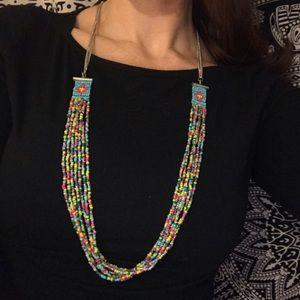 Vintage Hand beaded Boho Necklace